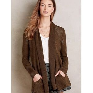 Anthro Angel of the North Cascade Cardigan Green L